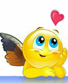 Hey there! My heart been wondering about you! 🐝🐝🐝🐝♥️🙋🏻💜 heart emoji Un Pensamiento Love Smiley, Emoji Love, Animated Emoticons, Funny Emoticons, Emoji Images, Emoji Pictures, Funny Images, Smiley Emoji, Angel Emoticon