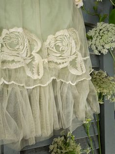 Lace, ruffles, and roses
