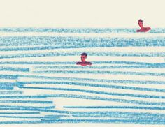 Love the simplicity and effectiveness of this swimming pool illustration by Rhona Garvin Easy Disney Drawings, Easy Drawings, Design Graphique, Art Graphique, Art Postal, Wow Art, Aesthetic Drawing, Doodle Drawings, Photomontage
