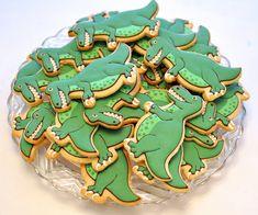 Dinosaur Cookies by Kelley Hart Custom Cookies