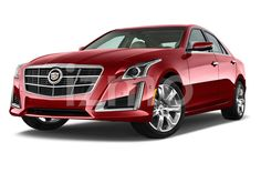 Front View of red 2014 Cadillac CTS 2.0 Sedan