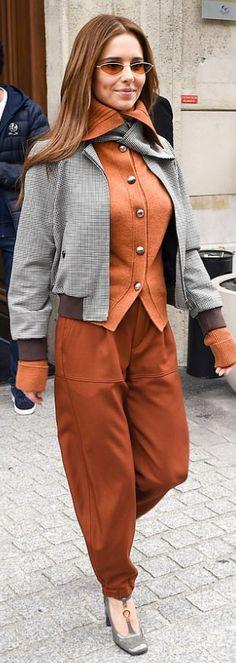 Who made Cheryl Cole's brown pants and cardigan sweater? Jennifer Hudson, Jennifer Connelly, Jennifer Garner, Nicole Richie, Nicole Kidman, Marisa Miller, Sienna Miller, Cheryl Cole, Denise Richards