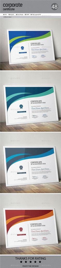 Certificate Pinterest Certificate design, Ai illustrator and