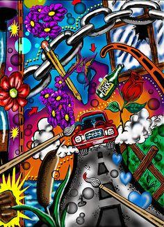 Legal Pad Doodles #2 by Steve Farr