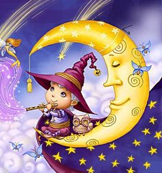 by Lilia Selina Beautiful Moon, Beautiful Dolls, Share Pictures, Art Mignon, Sleep Dream, Baby Fairy, Hello Kitty Wallpaper, Moon Magic, Moon Art