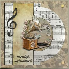 Masculine Birthday Cards, Masculine Cards, 3d Cards, Cool Cards, Musical Cards, Scrapbooking, Big Shot, Rock N Roll, Love Rocks