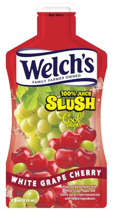 Welch's 100% Juice Slush by Cool Tropics – White Grape Cherry
