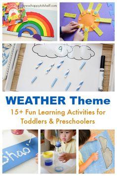 Weather Theme Learning Shelf