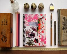 Hummingbird Spiral Notebook 4 x 6 by Ciaffi on Etsy, $11.00