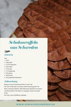#Waffeln sind schnell mal gemacht und super lecker. Es gibt so viele #Rezepte, dass Du Dich nicht entscheiden kannst, welche Du als erstes machen sollst? In #Schweden gibt es sogar einen speziellen Waffeltag. Und von mir gibt es noch zwei Waffelrezepte. #einfachschweden #schwedisch Fika, Super, Drink, Desserts, Cacao Powder, Nordic Kitchen, Swedish Recipes, Coffee Break, Sweden