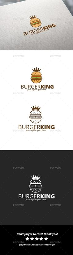 Burger King Logo by astanadesign | GraphicRiver Get it now!!