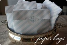 make your own favor bags with an easy tutorial by emily jones