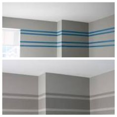Gray striped wall