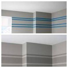 Gray striped wall