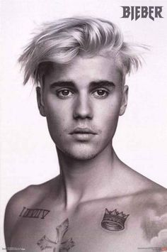 Justin Bieber Pinup Portrait Poster 22x34