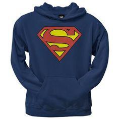 Amazon.com: DC COMICS SUPERMAN SHIELD HOODED SWEATSHIRT: Clothing