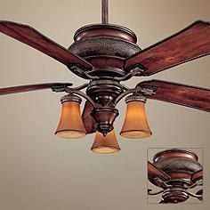 "craftsman 1900 52"" outdoor ceiling fan w/light kit | exterior"