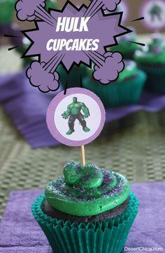 Easy Hulk Cupcakes | Desert Chica