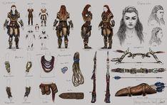 "Fan Art - ""Aloy"" Horizon New Dawn (Character Design Study), Salem Shanouha on ArtStation at https://www.artstation.com/artwork/24bEY"