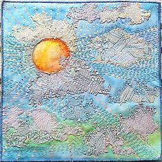 Lutradur formed the clouds on this quilt.