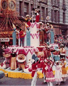 Disney float 1969. Macy's Thanksgiving Day Parade.  I love Disney...........................