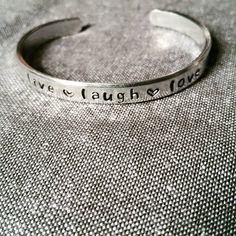 Handstamped bracelet jewellery lovely! Personalised