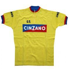 Cinzano Yellow  Wool Cycling Jersey