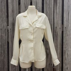 Christian Dior Chemise Vintage Crepe Blouse by TomieHarleneVintage, $16.00 Christiandior #vintagedior