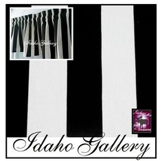 "Window Treatment Kitchen Bedroom Curtain Black and White Stripe Modern 14"" Valance.  via Etsy."