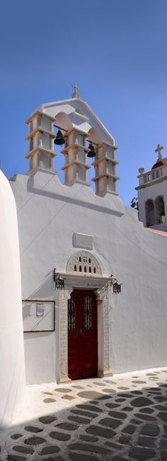 Mykonos church, Greece