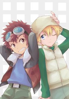 Daisuke y Takeru Digimon Seasons, Gatomon, Digimon Adventure 02, Digimon Digital Monsters, Anime Shows, My Childhood, Cute Pictures, Anime Art, Pokemon