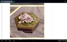 How a nice work porcelain roses on a jewellery box