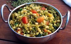 I have for you today a very simple, very nutritious, and very delicious sprouted mung bean salad that, in my part of India, goes by the name of Moong Usal.