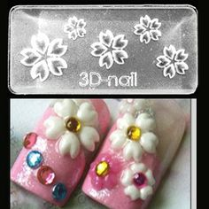 Sakura Mold-3D Molds take the tedious hand work & time out of 3D nail art! With the ability to use them with gel or acrylic the limits are endless! $6.95