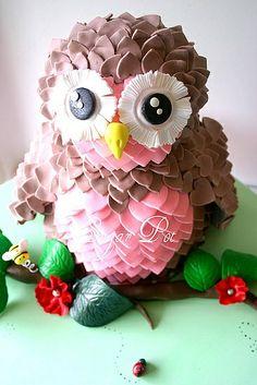 beautiful owl cake
