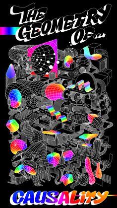 The geometry of causality best graphic designers, graphic design art, graphic design illustration, Graphic Design Posters, Graphic Design Typography, Graphic Design Illustration, Graphic Design Inspiration, Graphic Art, Illustration Art, Mawa Design, Plakat Design, E Mc2