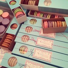 BRP Box Shop Macaron boxes filled with delicious macarons by Trinny's Treats!