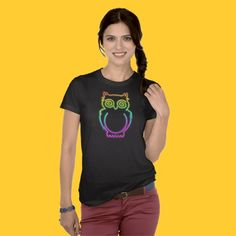 ☆SOLD!☆   #Owl #Psychedelic #Neon #Light #T_shirt  http://www.zazzle.com/owl_psychedelic_neon_light_tshirt-235297713313045093