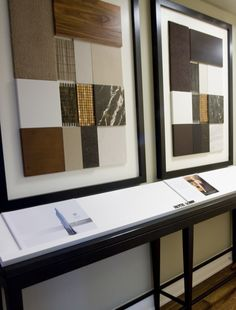 Another view of the Trump Tower Décor Sample boards.  Custom made and installed in the Sales office of the Trump.