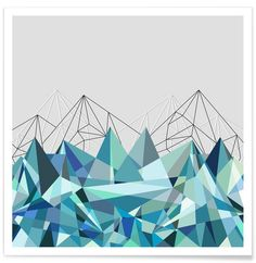 Colorflash 3 Turquoise als Premium Poster von Mareike Böhmer | JUNIQE