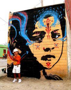 Pochoir - Par l'artiste Stinkfish - une référence de la jeune vague street art Colombienne