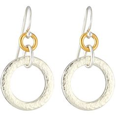 Gurhan Hoopla Small Tapered Hoop Drop Earrings ($69) ❤ liked on Polyvore featuring jewelry, earrings, silver, drop earrings, hoop earrings, 24 karat gold earrings, hammered earrings and taper earrings