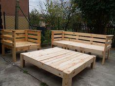 Mobiliário de jardim usando os paletts