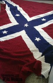 Adventures of a Wild Woman: Crochet Confederate Flag Blanket