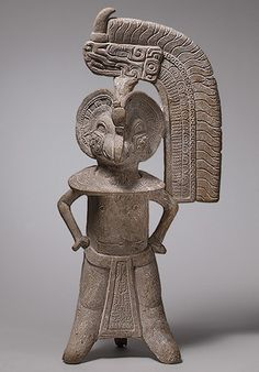 Bird-Headed Figure Whistle, 8th–9th century Mexico, Veracruz Ceramic