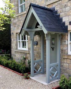 Porch Uk, House Front Porch, Front Porch Design, Porch Over Front Door, Porch Designs Uk, Porch Veranda, Cottage Front Doors, Cottage Porch, Cottage Exterior