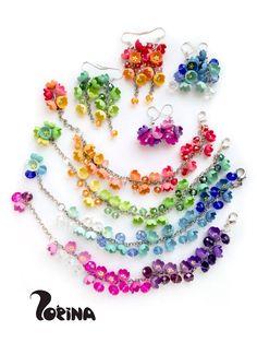 Diy Jewelry : Floral jewellery polymer clay.