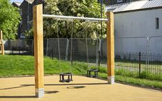 We offer a wide range of playground swings made from naturally durable hardwood. Our swings are suitable for all ages and abilities. Playground Swings, Kids Yard, Cross Beam, Swing Seat, Technical Drawing, Galvanized Steel, Yard Ideas, Outdoor Structures, Patio Ideas