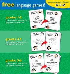Language Games - Re-pinned by @PediaStaff – Please Visit http://ht.ly/63sNt for all our pediatric therapy pins