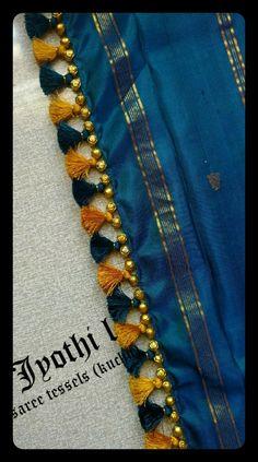 Saree Tassels Designs, Saree Kuchu Designs, Silk Saree Blouse Designs, Hand Work Blouse Design, Simple Blouse Designs, Saree Border, Designer Blouse Patterns, Indian Designer Wear, Women's Fashion Dresses